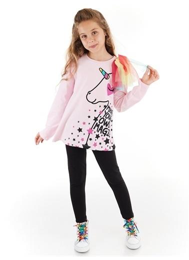Denokids Love Magic Tüllü Kız Tunik Takım Renkli